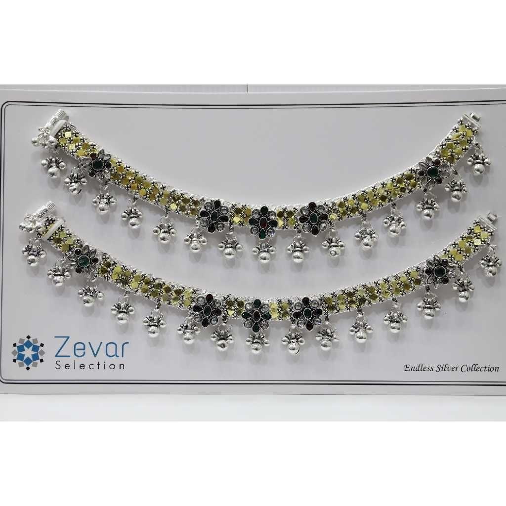 Silver Gold Polish Chattai Payal