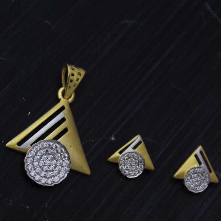 22 K Gold Pendant Set. nj-p01198
