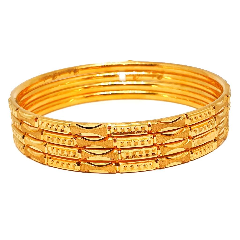 1 gram gold forming plain bangles mga - bge0352