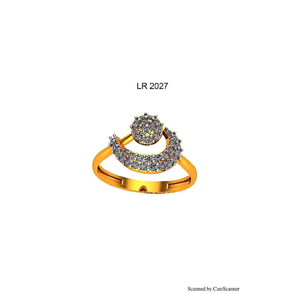 76 Gold Cz Ladies Ring 027