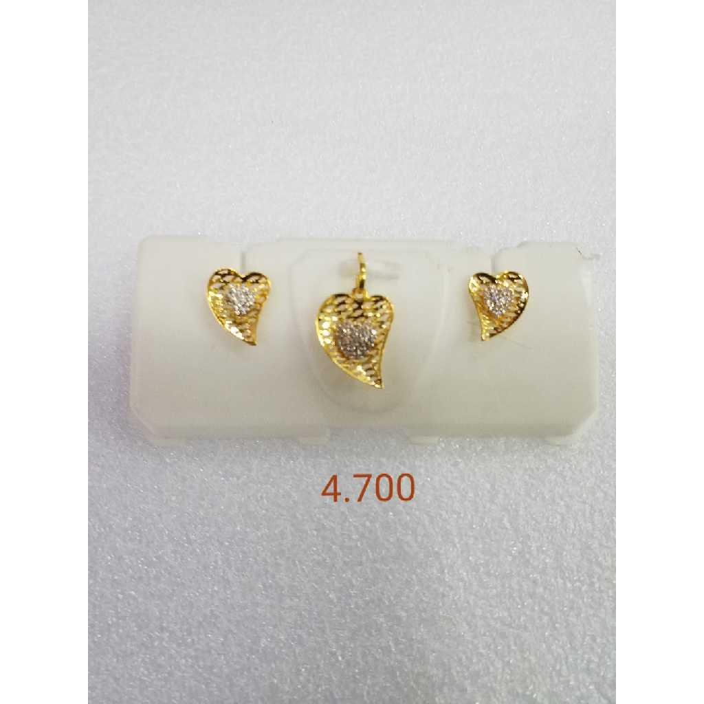 22KT gold jali pendant set NG-P006