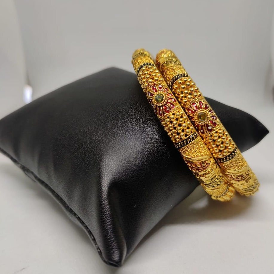 22 carat gold ladies meena bangles RH-GB617