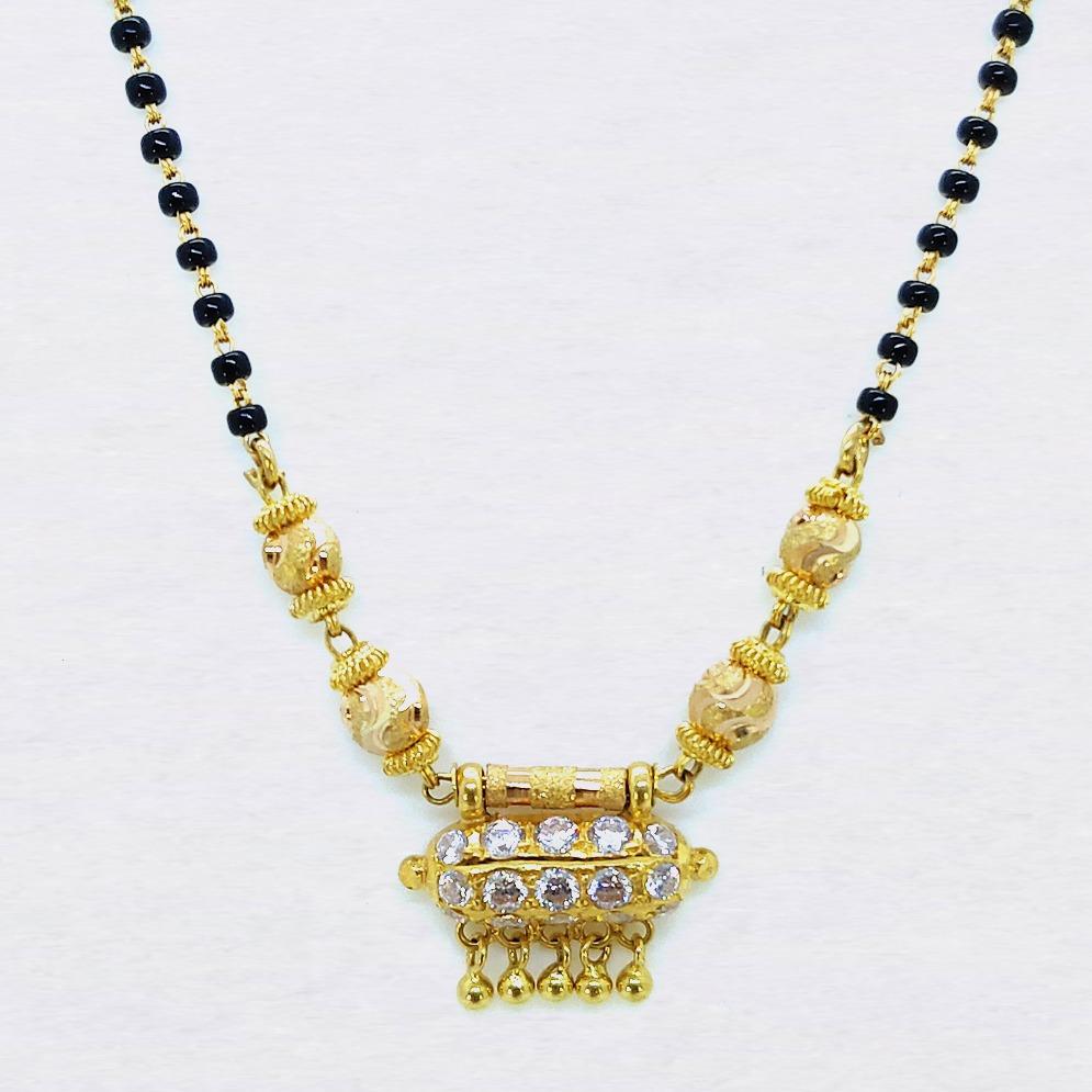 916 gold black beads dokiya mangalsutra sk-m005