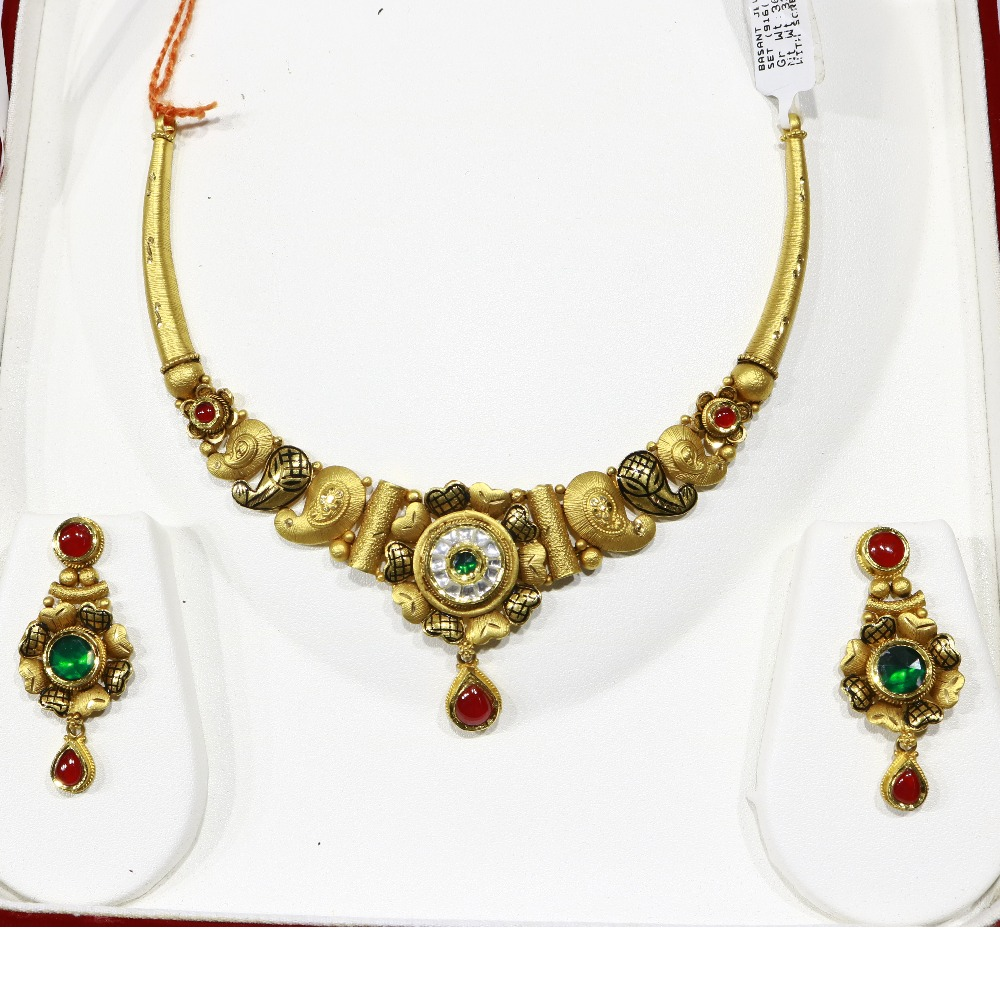 916 Kundan Necklace set With Earrings - BJ-NS01
