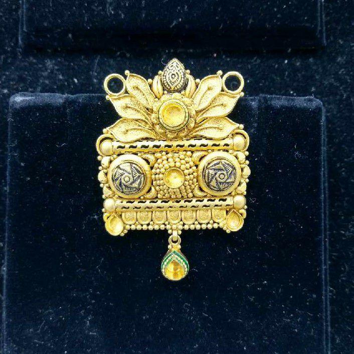 916 Gold Fancy Jadtar Mangalsutra Pendant