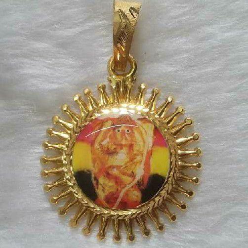 22KT Gold Hanuman Photo Pendant