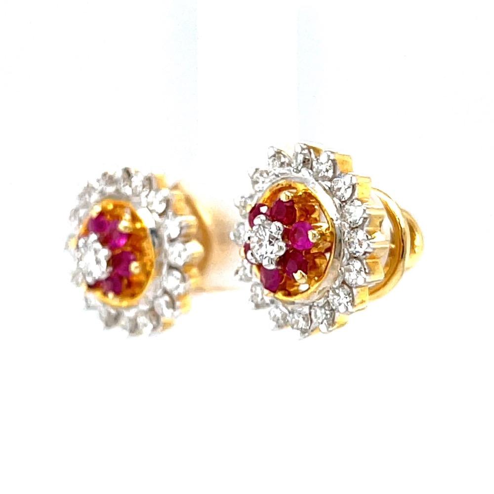 Ruby & diamond traditional vati maharashtrian kudi 7top74