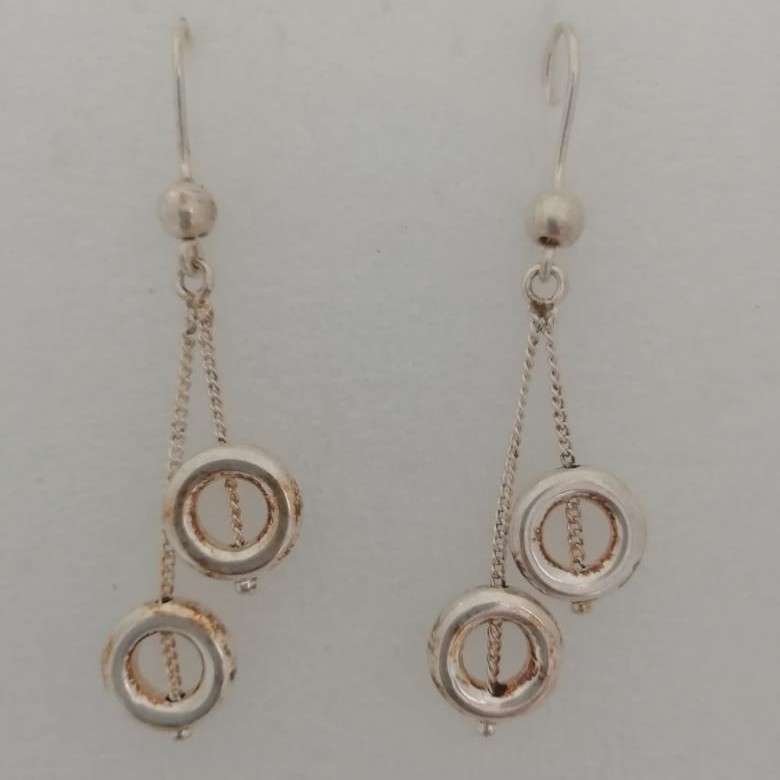 sterling silver latkan style fancy earrings