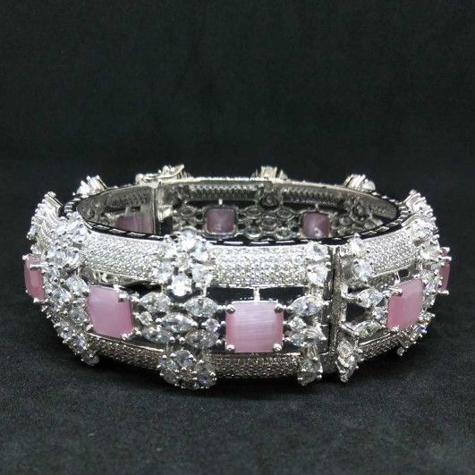 Pink diamond designed 1 gram ladies bracelet