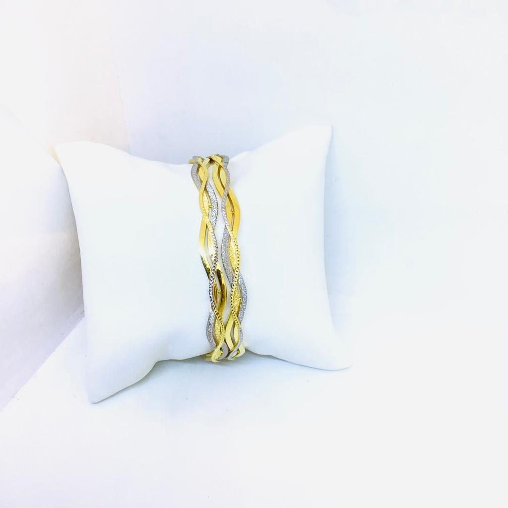 DESIGNED FANCY GOLD COPPER BANGLES