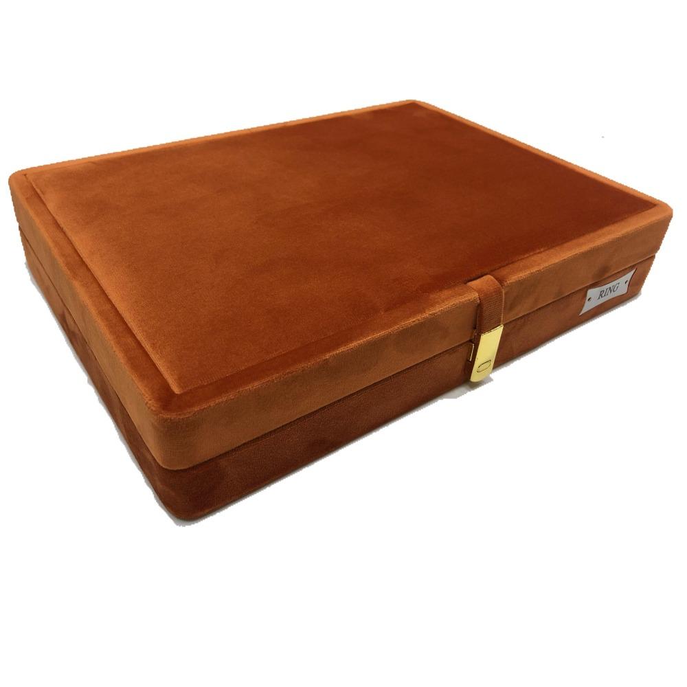 Jewellery orange swede stock box