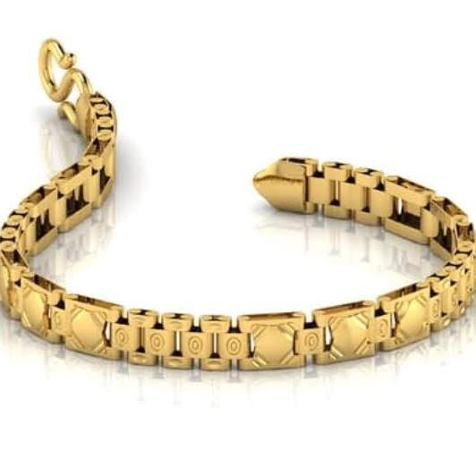 22k(916)Gold Gents Plain Bracelate