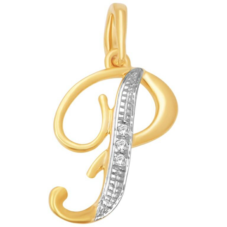 18k gold real diamond pendant mga - rp0016