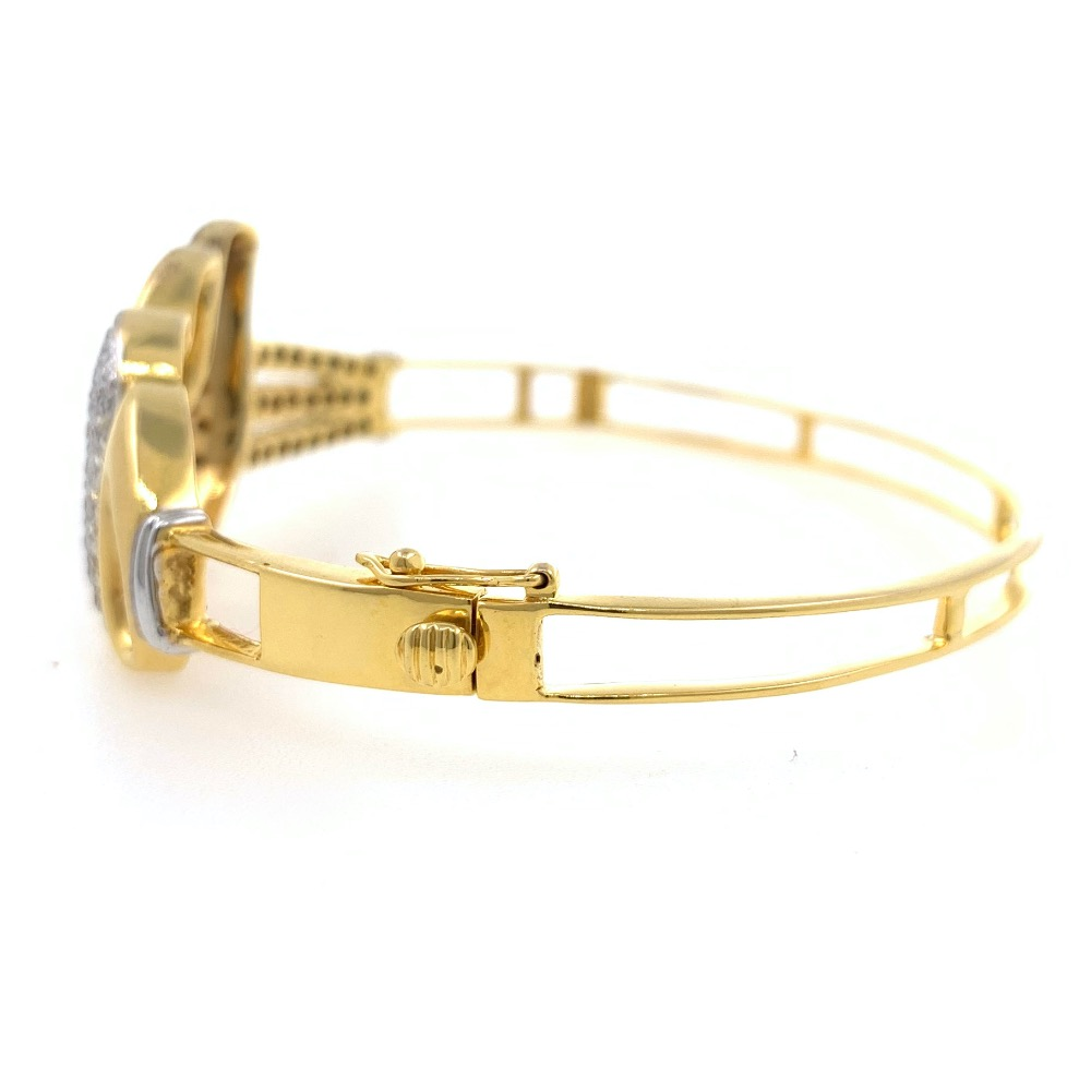Grand Diamond Bracelet Pave Set in Yellow Gold 9BRC31