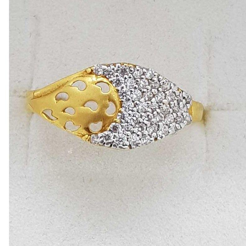 916 Gold half studded Ladies Ring SJ-LR/18