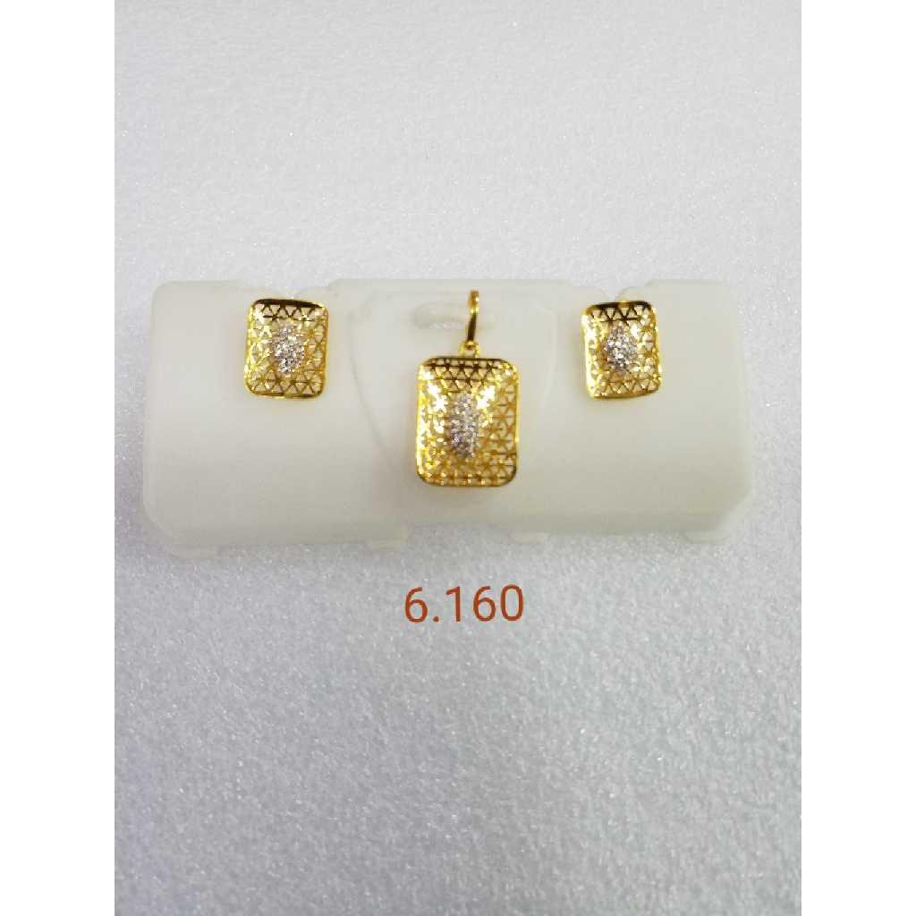 22KT gold jali  pendant set NG-P005