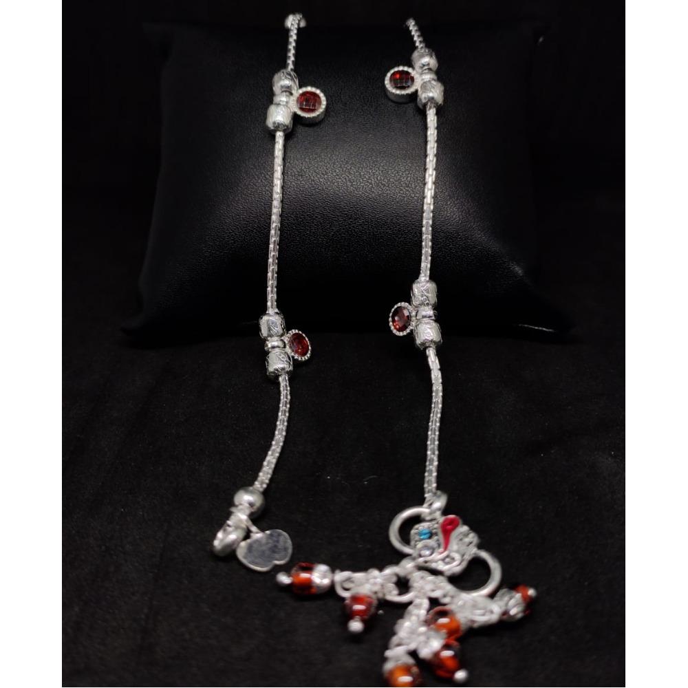 silver traditional ladies payal RH-LA896