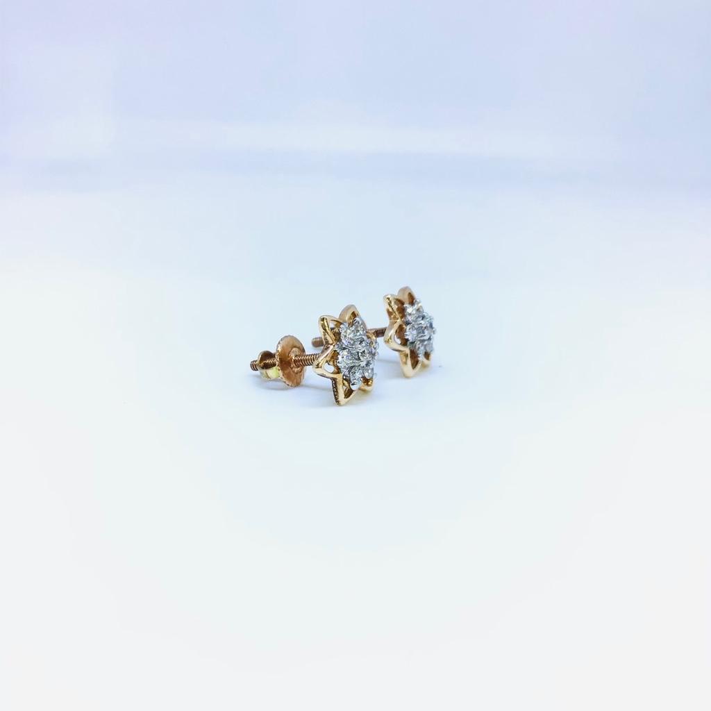 Fancy ROSE GOLD REAL DIAMOND EARRINGS