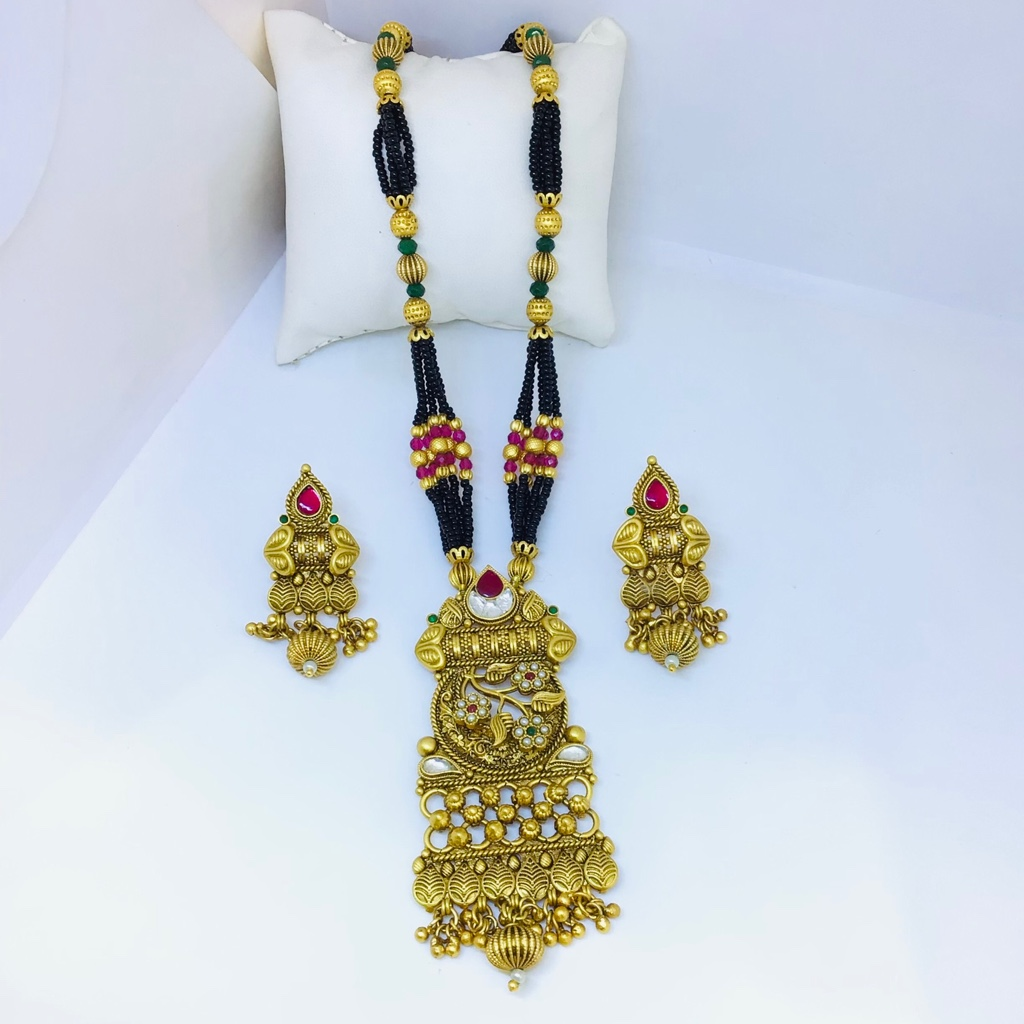 DESIGNING FANCY GOLD ANTIQUE MANGALSUTRA