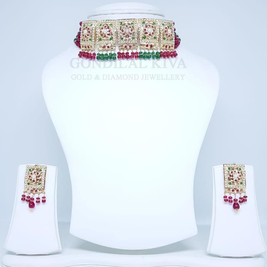 18kt gold necklace set gnl174 - gft438