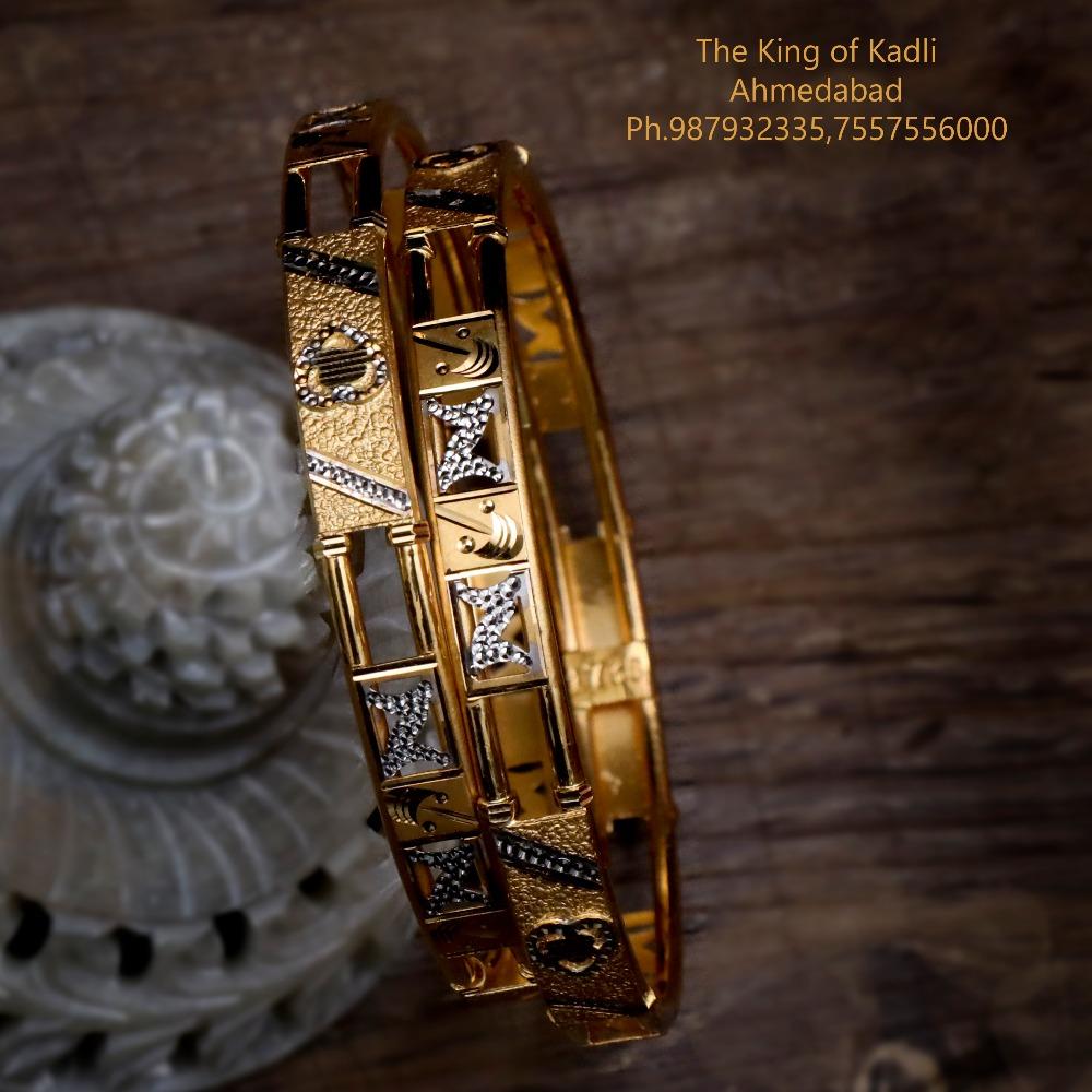 22KT Gold Fancy Double Pipe Copper Kadli