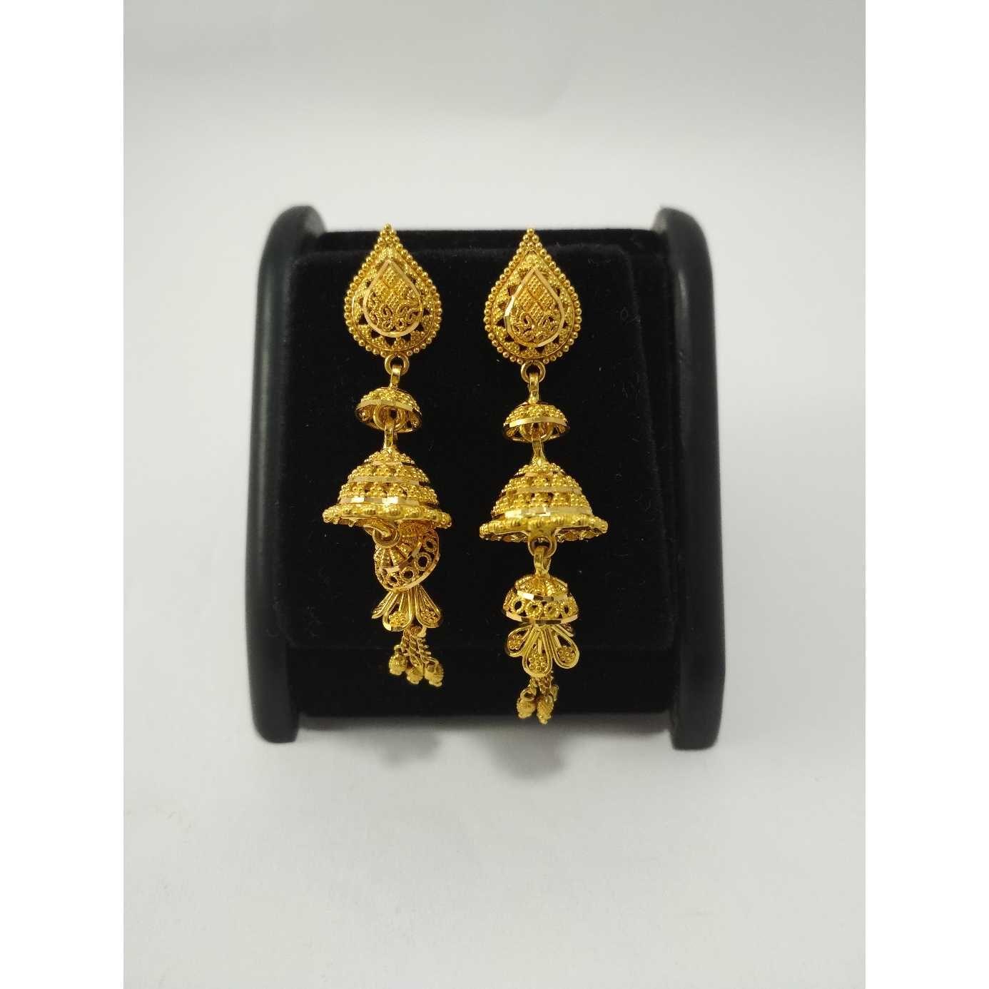 22 k gold earring  (jumer buti). nj-e011