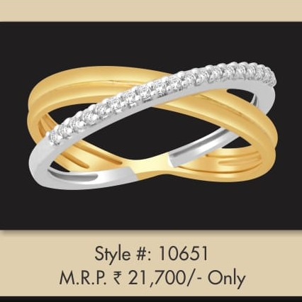 22Kt Gold Designer Double Tone Ring MJ-R002