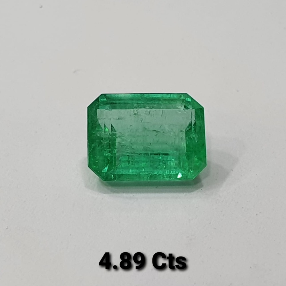 4.89ct square green emerald-panna SG-E01
