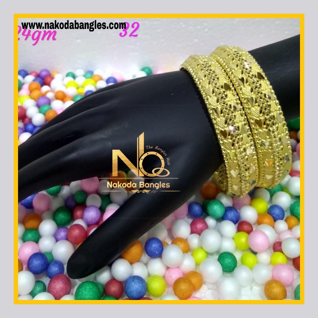 916 Gold Patra Bangles NB - 592