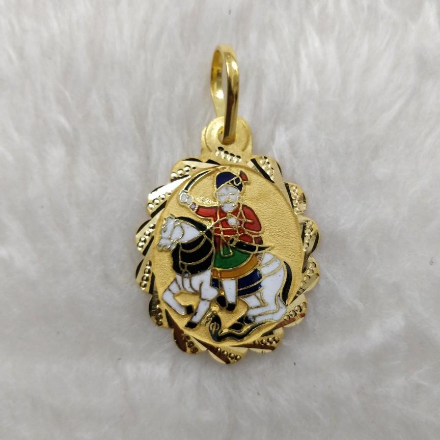 916 Gold Gent's Pendant
