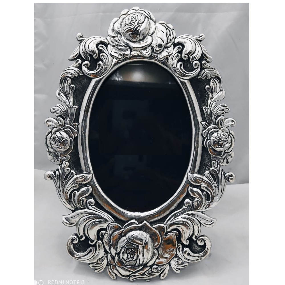 Pure Silver Photo Frame In Deep Carvings in Antique PO-171-15