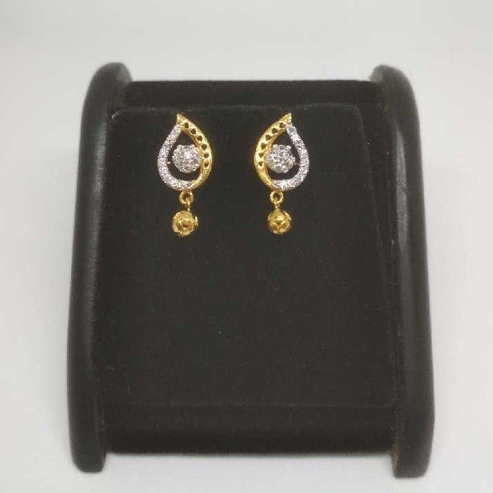 22 K Gold Fancy Earring. NJ-E0930