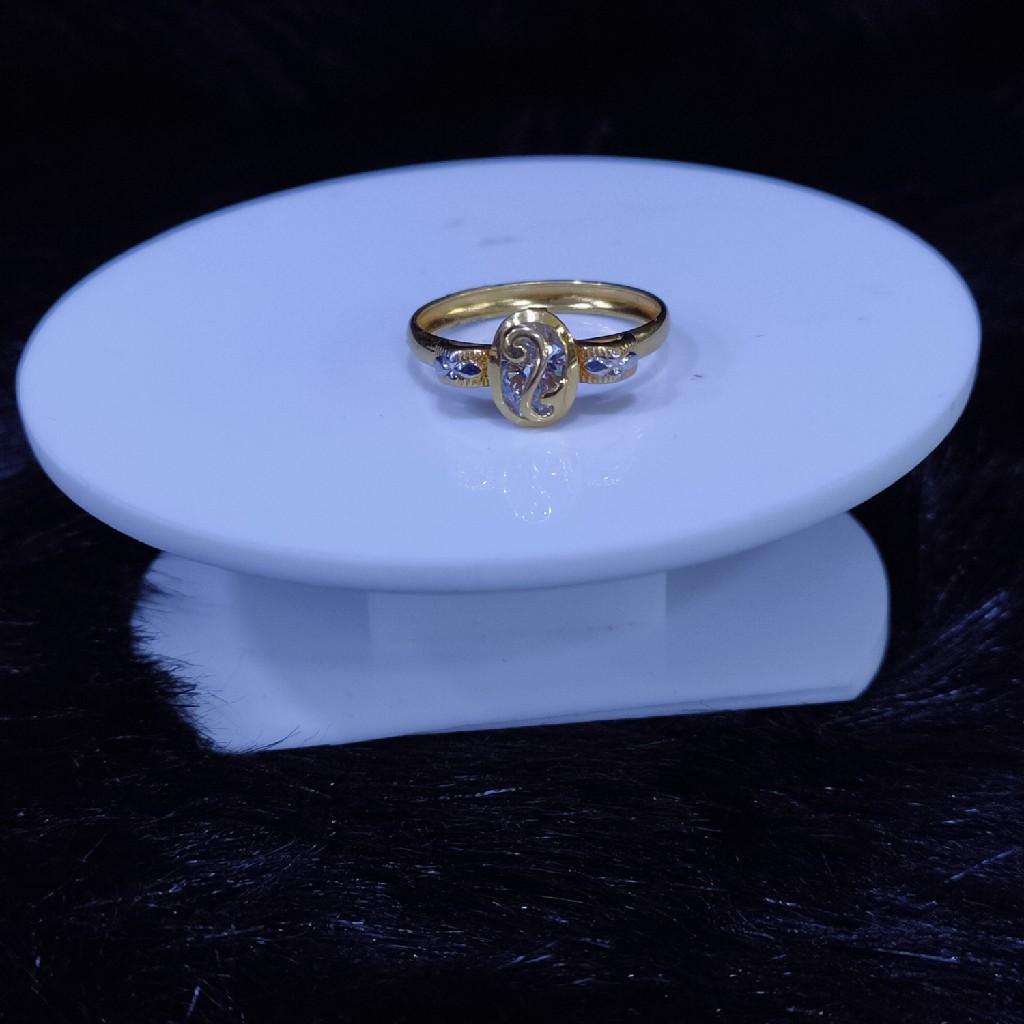 22kt/916 yello gold trinity ring for women