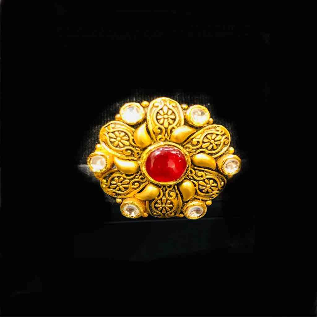 916 exclusive antique jadtar ladies ring