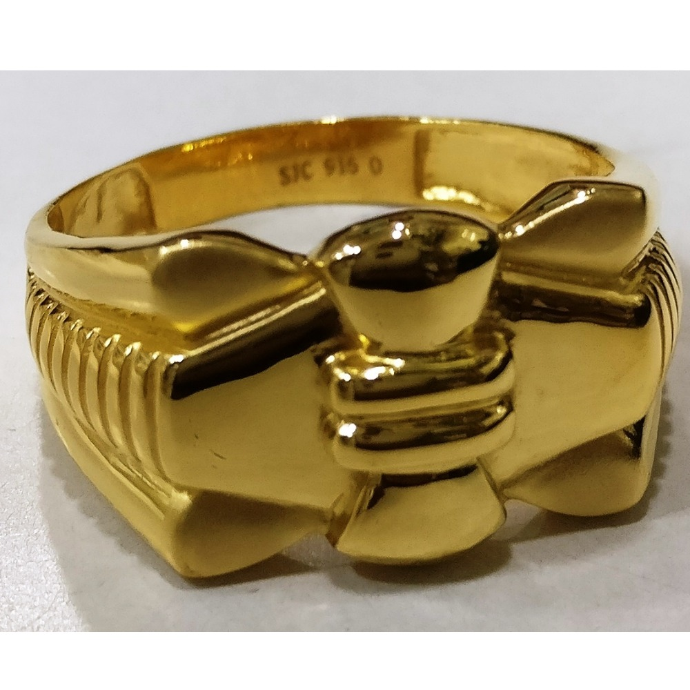 22kt gold plain casting gents ring