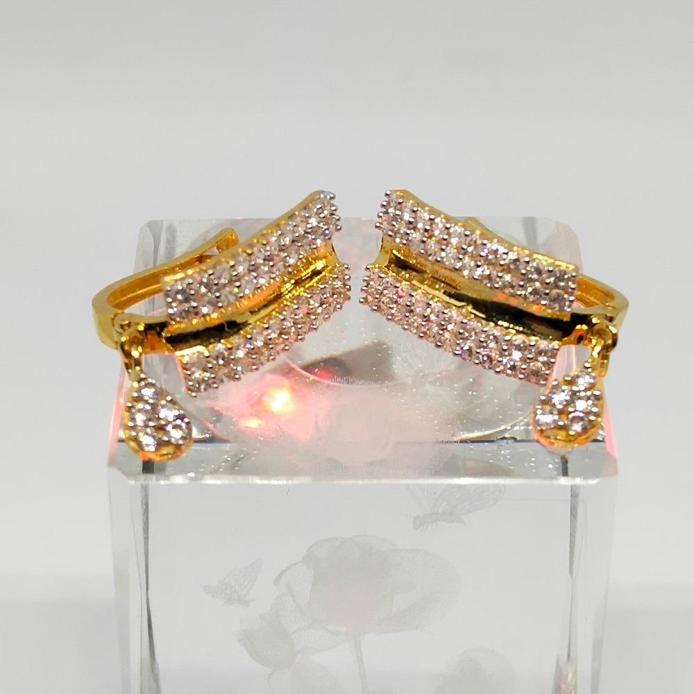 18KT gold classic diamond earring dj-e009
