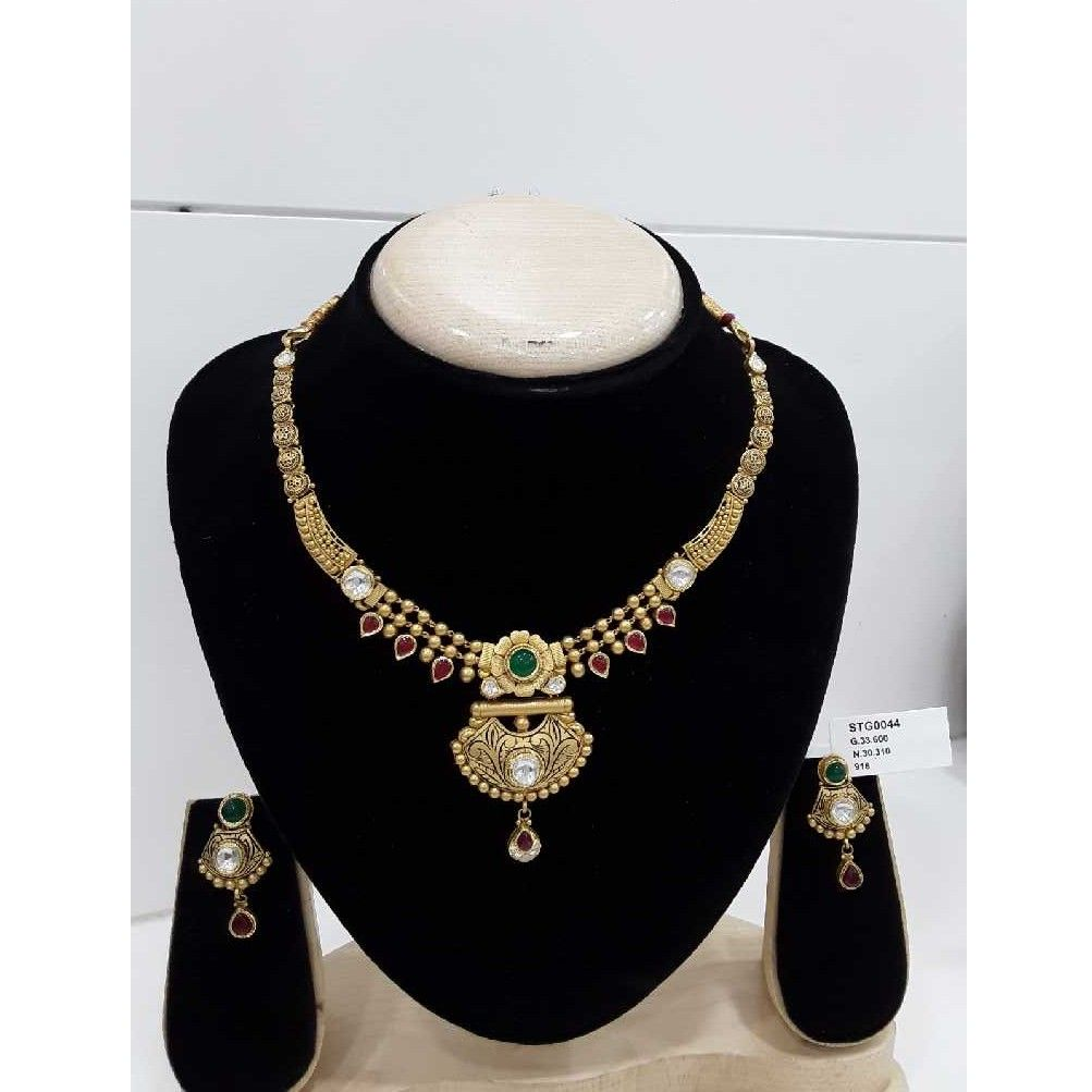 916 Antique Fancy Gold Kundan Work Set