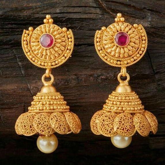 22 Kt 916 Gold Earring With Zummer