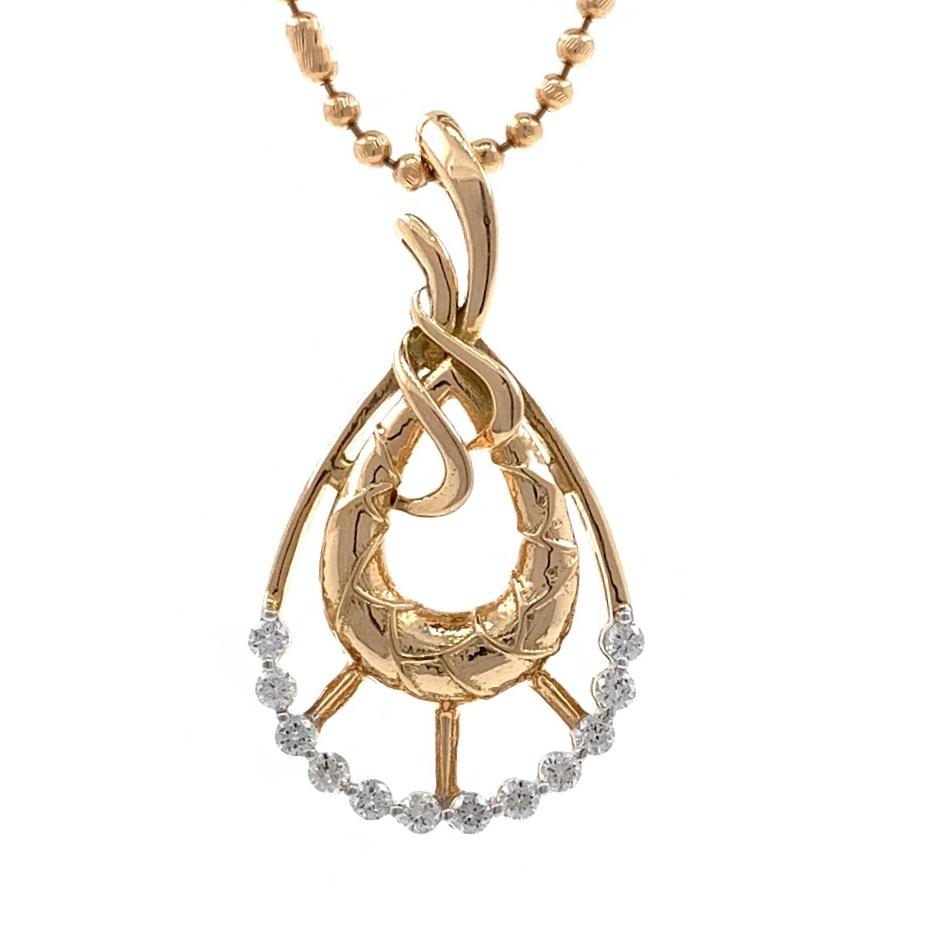 mignonne Tear Drop Diamond Pendant in 18k rose Gold 9SHP39