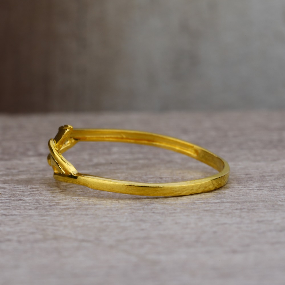 Ladies 22K Gold New Casting Plain Ring -LPR27
