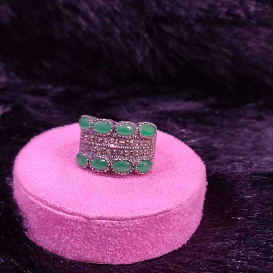 92.5 Sterling Silver Magdalena oxidised Ring For Women Men