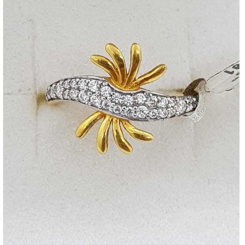 916 Gold rhodium studded Ladies Ring SJ-LR/77
