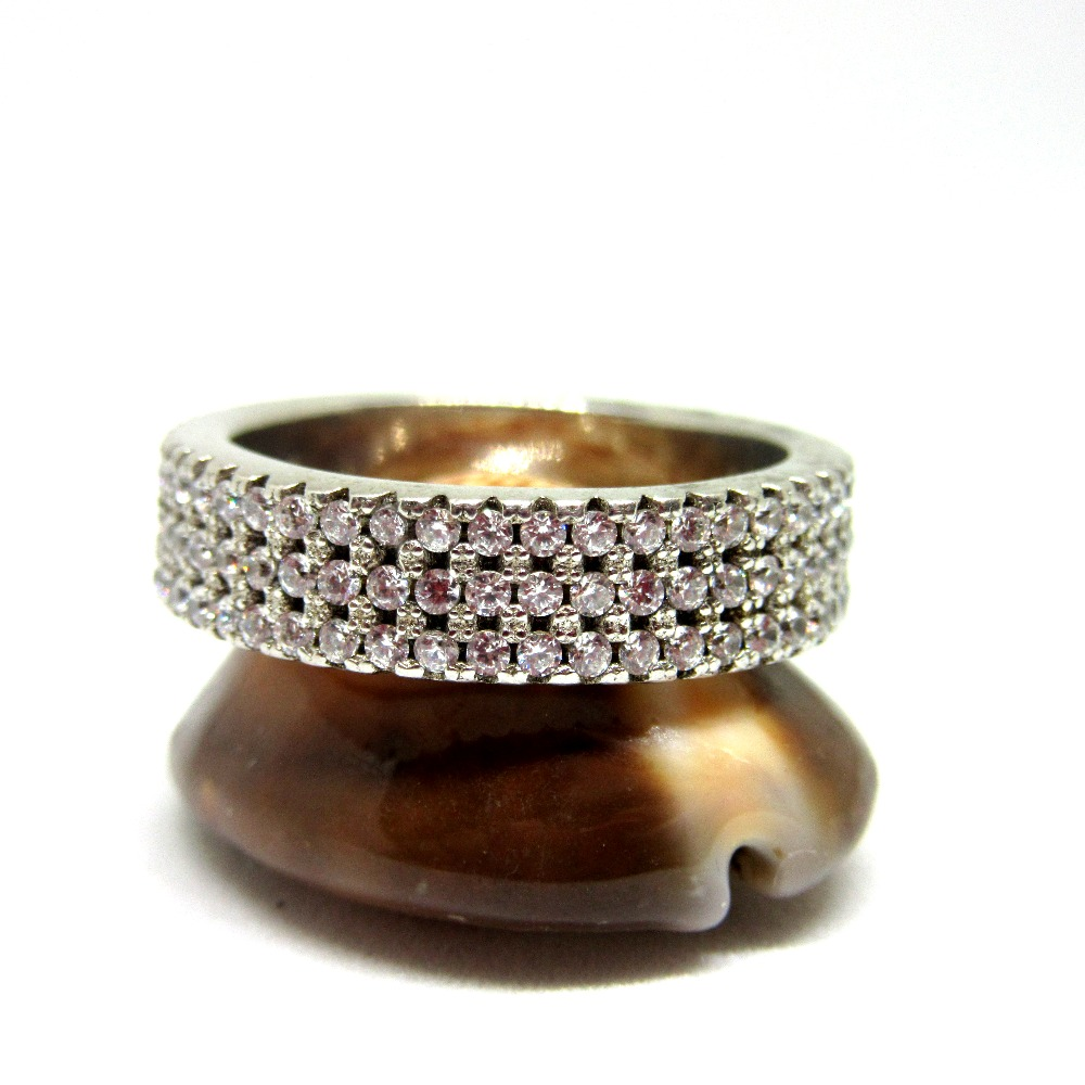 925 silver diamond band sr925-238