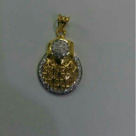 22K / 916 Gold Designer CZ Pendant