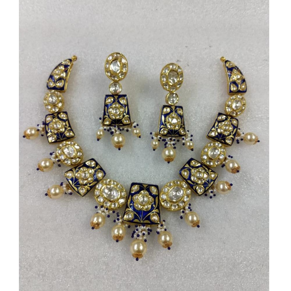 916 gold minakari neckless set