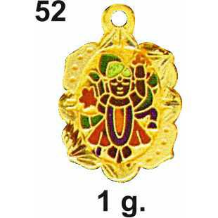 916 Gold Shreenathji Pendant