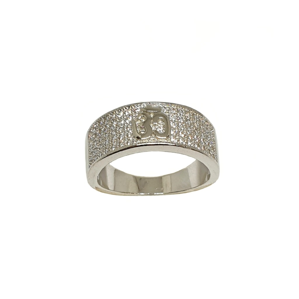 925 Sterling Silver Om Gents Ring MGA - GRS2424