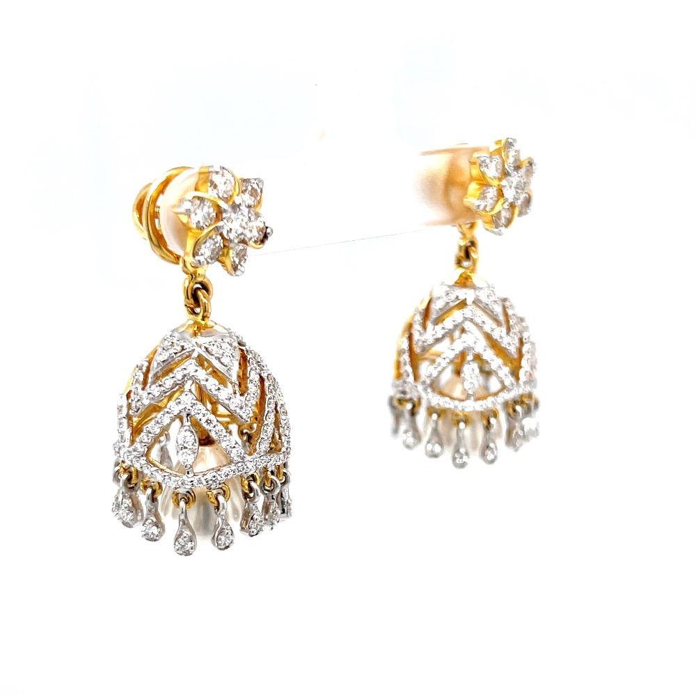 Jhumkis for Special Occasion with Premium Quality Diamonds 6TOP185