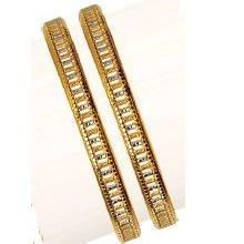 22K / 916 Gold Double Pipe Designer Kadli