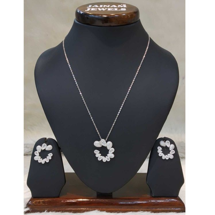 925 sterling silver ad  diamond necklace